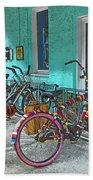Blue Heaven Key West Bicycles Bath Towel