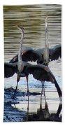 Great Blue Heron Ballet Bath Towel