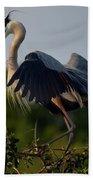 Blue Heron Wing Tips Bath Towel