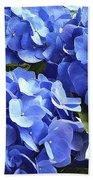Blue Hydrangea Bath Towel