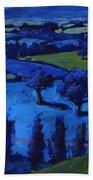 Blue Landscape Bath Towel