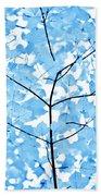 Blue Leaves Melody Bath Towel