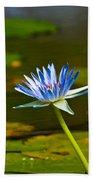 Blue Lily Bath Towel