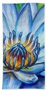 Blue Lotus Bath Towel