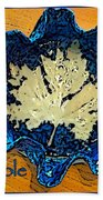 Blue Maple Leaf Dish 2 Bath Towel