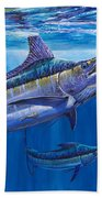 Blue Marlin Bite Off001 Bath Towel