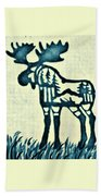 Blue Moose Bath Towel