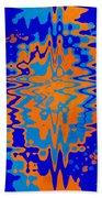 Blue Orange Abstract Bath Towel