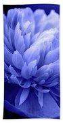 Blue Peony Bath Towel