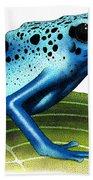 Blue Poison Dart Frog Bath Towel