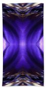 Blue Poppy Fish Abstract Bath Towel