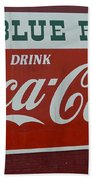Blue Ridge Coca Cola Sign Bath Towel