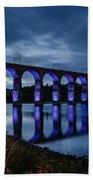 Blue Royal Border Bridge Bath Towel