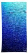 Blue Sand Abstract Bath Towel