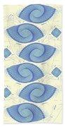 Blue Shells Bath Towel