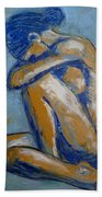 Blue Soul - Female Nude Bath Towel