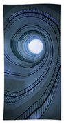 Blue Spiral Staircaise Bath Towel