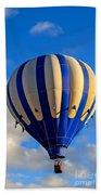 Blue Stripped Hot Air Balloon Bath Towel