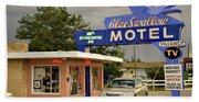 Blue Swallow Motel Hand Towel