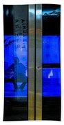 Blue Tram Windows Bath Towel