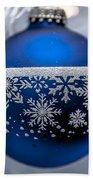 Blue Tree Ornament Bath Towel