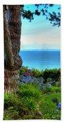 Blue Waters In Palos Verdes California Bath Towel