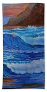 Blue Waves Hawaii Bath Towel