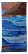 Blue Waves Hawaii Bath Towel