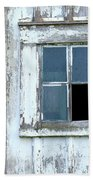 Blue Window In Weathered Wall Bath Towel