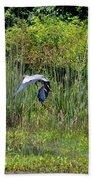 Blue Winged Heron 2013 Bath Towel