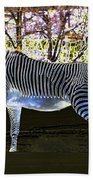 Blue Zebra Bath Towel