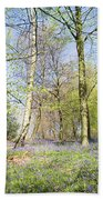 Bluebell Time In England Bath Towel