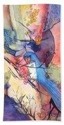 Bluebird And Butterflies Bath Towel