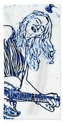Blues In Blue Bath Towel
