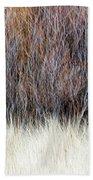Blurred Brown Winter Woodland Background Bath Towel
