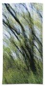 Blurred Trees Bath Towel