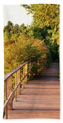 Boardwalk In A Forest, Magee Marsh Bath Towel