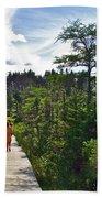 Boardwalk In Salmonier Nature Park-nl Bath Towel