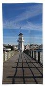 Boardwalk Lighthouse Bath Towel