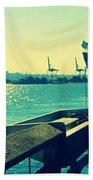 Boat At Alki Beach Bath Towel