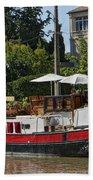 Boat On Canal Du Midi Homps France Dsc01717  Bath Towel