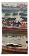 The Journey - Varanasi India Bath Towel