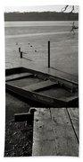 Boat In Ice - Lake Wingra - Madison - Wi Bath Towel