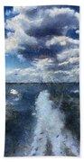 Boat Wake Photo Art 02 Bath Towel