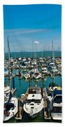 Boats At Bay Bath Towel