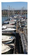Boats At The San Francisco Pier 39 Docks 5d26005 Hand Towel