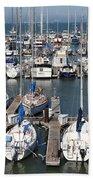 Boats At The San Francisco Pier 39 Docks 5d26009 Bath Towel