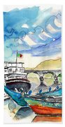 Boats In Barca De Alva 02 Bath Towel