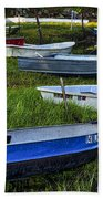 Boats In Marsh - Cape Neddick - Maine Bath Towel