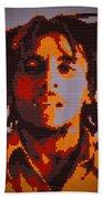 Bob Marley Lego Pop Art Digital Painting Bath Towel